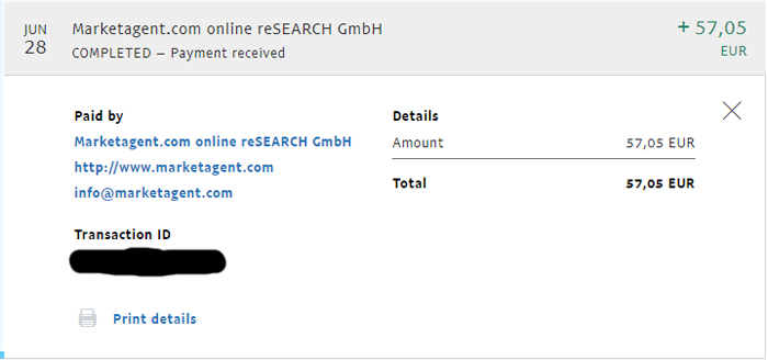 Marketagent Payment Proof