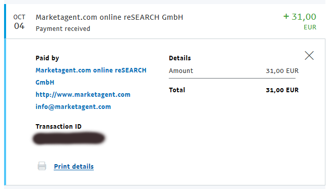 marketagent payment proof 2018