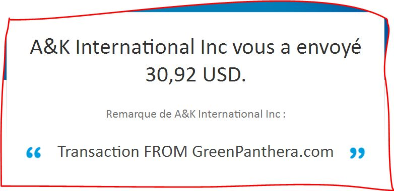 Greenpanthera Payment Proof